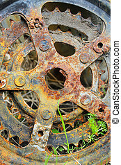 Scrap-iron - Bicycle Parts rusty nature, corrosion