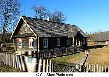Ethnographic farmstead - Traditional ancient homestead...