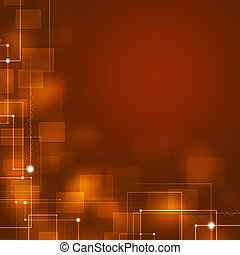 Red Business Square Shapes Background