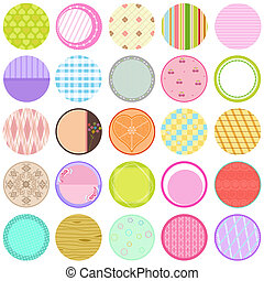 Vector Labels / Cards / Tags pastel - A Cute Collection of...