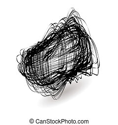 squiggle mess - Illustrated black mess of a squiggle icon...