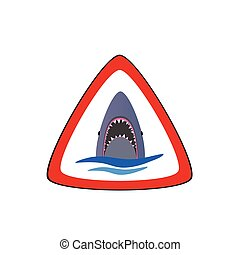 shark in the sea vector illustration part two