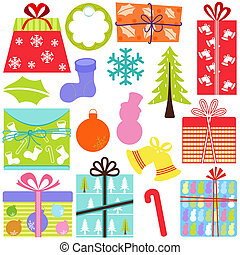 Gift Boxes (present), Christmas - A set of simple and cute...