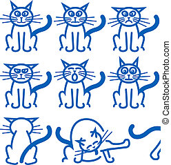 Nine common expressions of a cat - The nine most common...