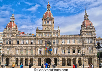 Townhall - townhall in La Coruna city, Spain