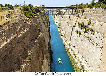 Corinth Canal, Greece - The Corinth Canal is a canal that...