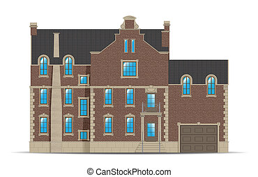 abstract building - abstract brick building in holland style...