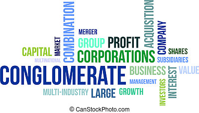 word cloud - conglomerate - A word cloud of conglomerate...