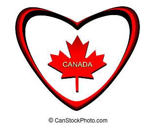Maple leaf. - Maple leaf, symbol of Canada, the prisoner in...