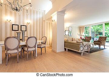 Vintage mansion - living room - Vintage mansion - an elegant...
