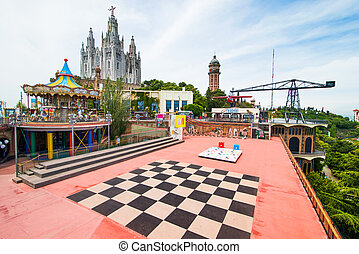 Amusement Park - BARCELONA - JUNE 07: Amusement Park on...