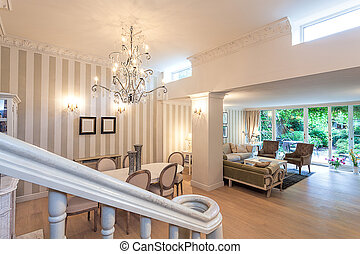 Vintage mansion - staircase view