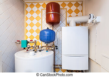 Vintage mansion - boiler room - Vintage mansion - a boiler...
