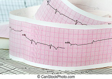 Cardiogram the concept for strokes and heart attacks -...
