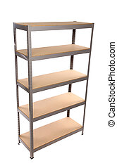 Metal industrial storage shelves. - Metal industrial storage...