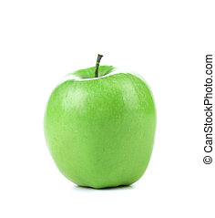 Granny Smith variety of apple. - Granny Smith variety of...