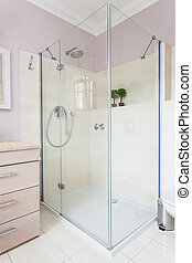 Vintage mansion - shower - Vintage mansion - a glass shower...