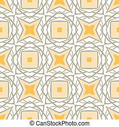 Pattern with bold geometric shapes in 1970s style - Seamless...