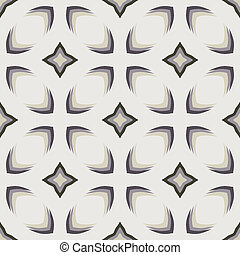 Pattern with bold geometric shapes in 1970s style - Simple...