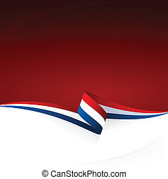 Red white blue - Abstract color vector background French...