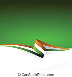Orange white green - Abstract color vector background Irish...