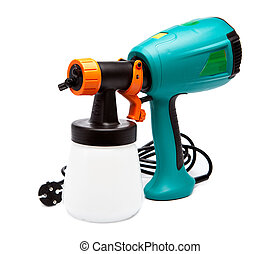 electrical spray gun for coloration, for color pulverization...