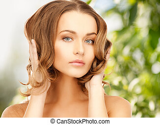 beautiful woman with long hair - beauty, hair and eco...