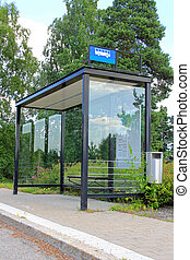 Urban Bus Stop Shelter - Urban bus stop shelter, space for...