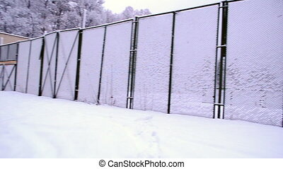 fence snow tennis court - high outdoor tennis court fence...