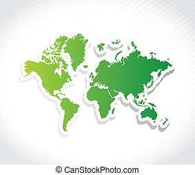 world map illustration design over a white background