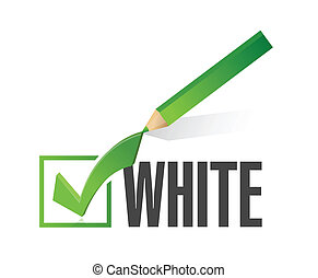 race selection pick white illustration design over a white...