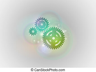 cogwheels - three cogwheels on the abstract background