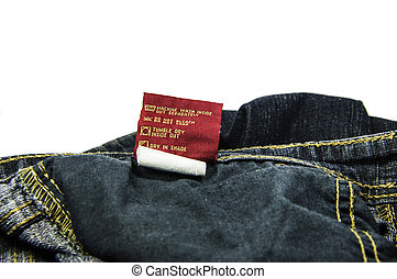 Washing Instructions for Jeans - Instractions for machine...