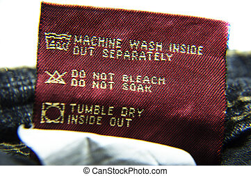 Washing Information for Jeans - Wash jeans with instructions...