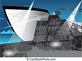 loading a ship