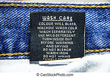 Specific instructions for washing Jeans - Wash care...