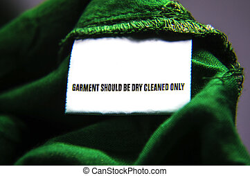 Dry-clean only cloth - Dry clean only instructions for cloth...