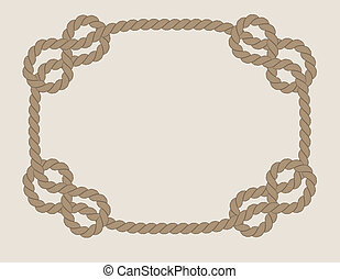 frame made from rope isolated