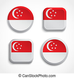 Singapore flag buttons