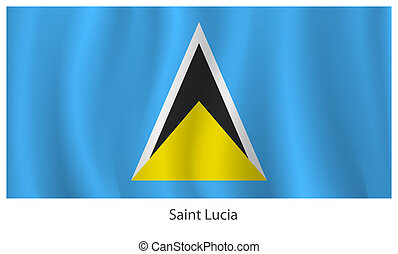 Saint Lucia flag with titles on the white background, vector...