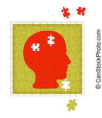 psicología, metáfora, -, mental, salud,...