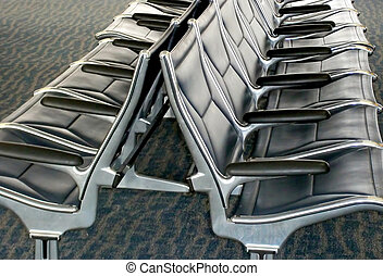 Airline waiting seats.