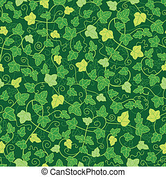 Green ivy plants seamless pattern background - Vector green...