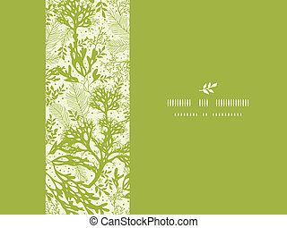 Green underwater seaweed horizontal seamless pattern...