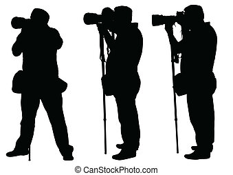 photographers with monopod