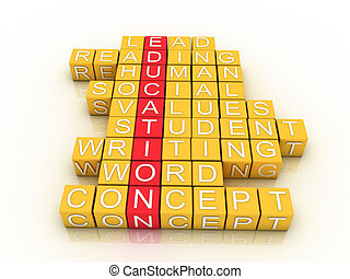 Education Toy Blocks (colorful cubes buzzword series)