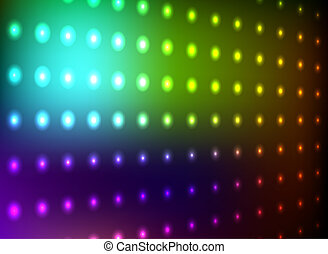 Colorful club light wall