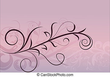 Pink floral horizontal background with copy space.