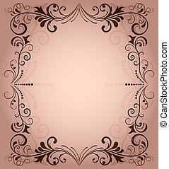 Floral vector frame for invitation with copy space.