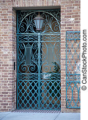 Alcove in Charleston, SC - Alcove with gate and plant in...